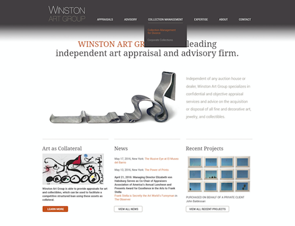 Winston Art Group Website - Designed and Built by Andigo