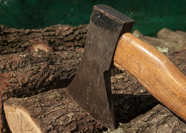 Wood Woodcutter Axe Tool Heating