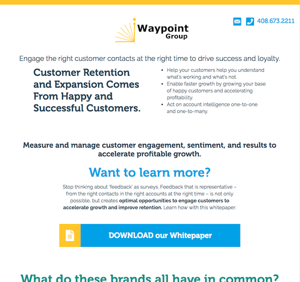 Waypoint Group Landing page by Andigo