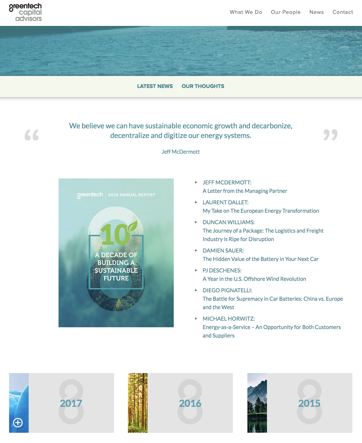 Greentech Capital Advisors Annual Reports Page